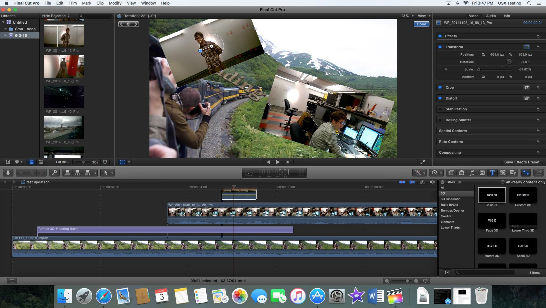 apple final cut pro x interface